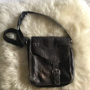 Bed Stu Purse. Dark Brown Distressed.